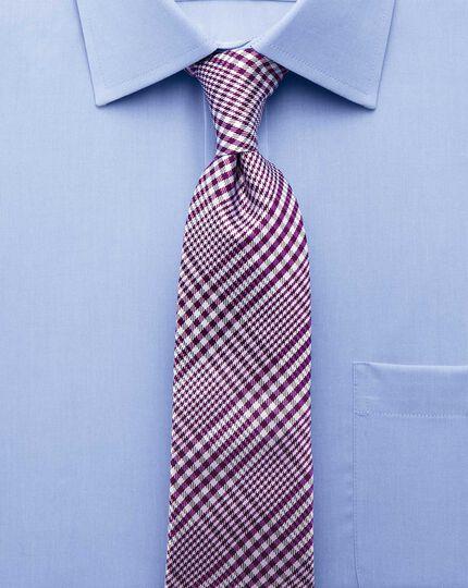 Slim fit non-iron short sleeve sky blue shirt
