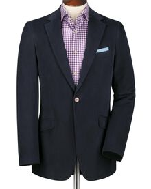 Italian slim fit navy drill jacket