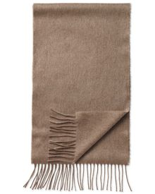 Fawn cashmere and merino scarf