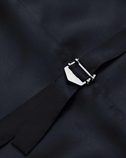 Dark blue stripe flannel business suit vest