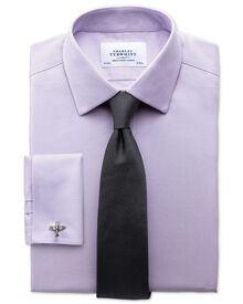 Slim fit non-iron honeycomb lilac shirt