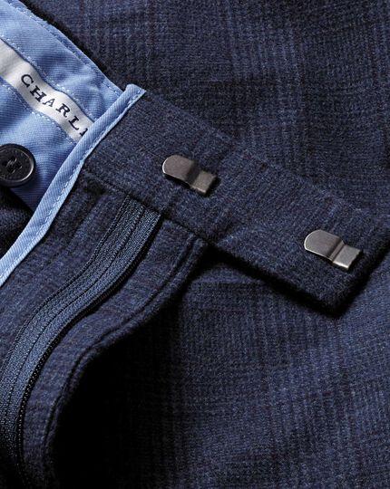 Mid blue classic fit cotton flannel pants