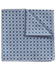 Royal and white classic End-on-End spot pocket square