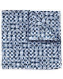Pochette de costume classique bleu roi et blanche fil à fil avec imprimé pois