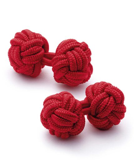 Dark red knot cuff links