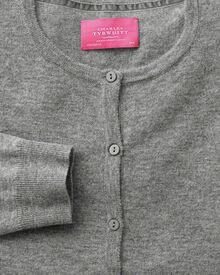 Light grey merino cashmere cardigan