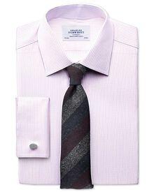 Slim Fit Hemd aus beidseitiger Pima-Baumwolle in Hellrosa
