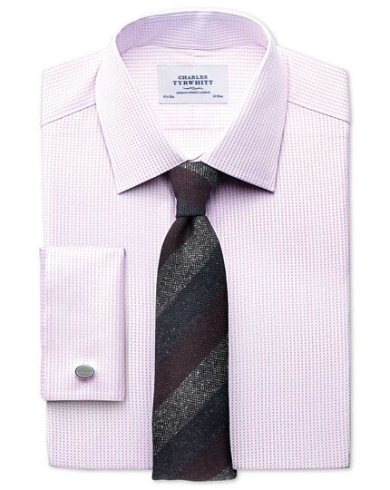 Slim fit Pima cotton double-faced light pink shirt