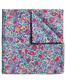 Pink floral Italian luxury pocket square