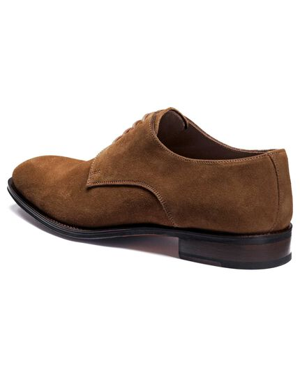 Brown Grosvenor suede Derby shoes