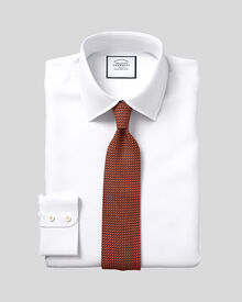 Classic fit Egyptian cotton poplin white shirt