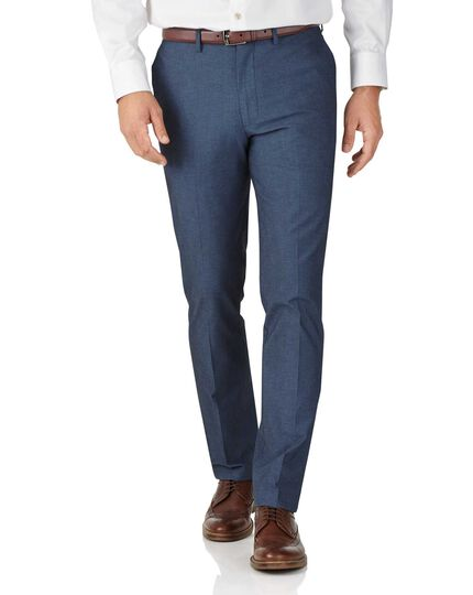 Indigo extra slim fit stretch cavalry twill trousers