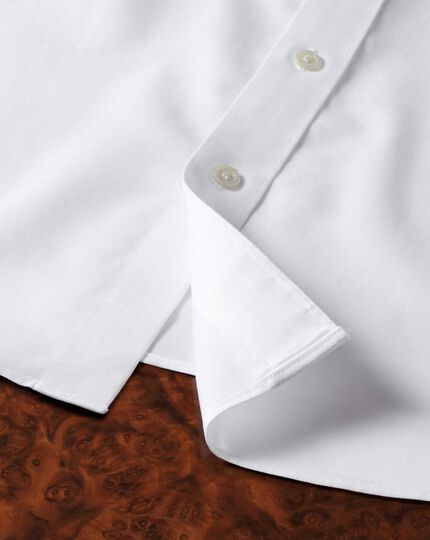 Slim fit non-iron semi-spread collar luxury white shirt