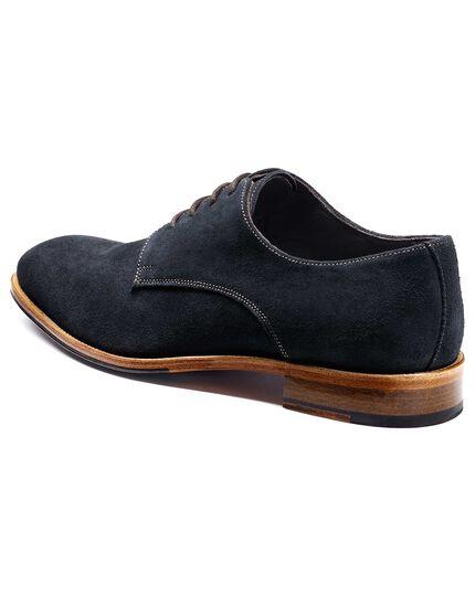 Navy Grosvenor suede Derby shoes