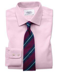 Slim fit Egyptian cotton cavalry twill light pink shirt