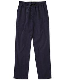 Navy dot cotton pajama trousers