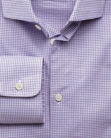 Extra slim fit business casual melange puppytooth purple shirt