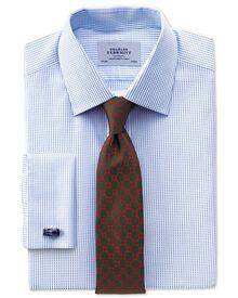 Extra Slim Fit Hemd aus beidseitiger Pima-Baumwolle in Himmelblau