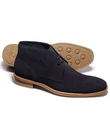 Navy Pembridge suede chukka boots