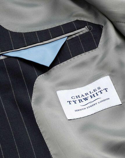 Classic Fit Business Anzug Sakko aus Twill in MarineBlau mit Streifen