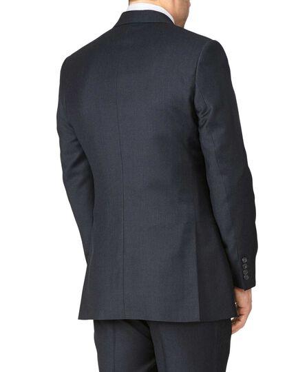 Blue slim fit British serge puppytooth luxury suit jacket