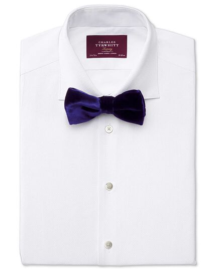 Navy cotton luxury velvet ready-tied bow tie