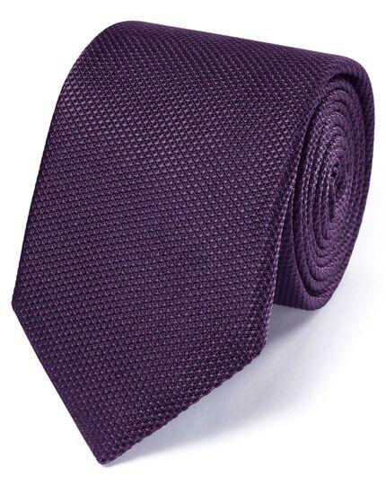Purple silk classic plain tie