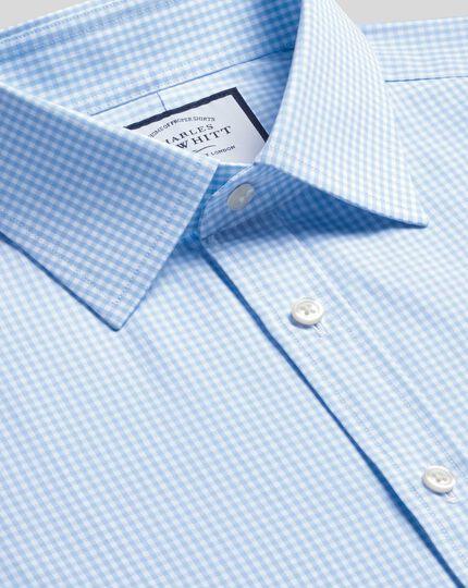 Classic Fit Hemd in himmelblau mit kleinen Gingham-Karos