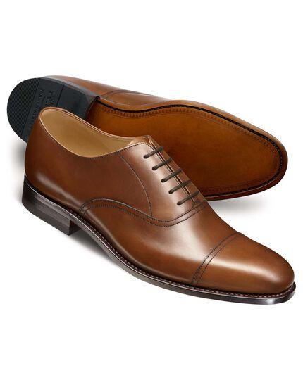 Brown Carlton toe cap Oxford shoes