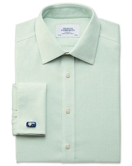 Slim fit non iron imperial weave light green shirt