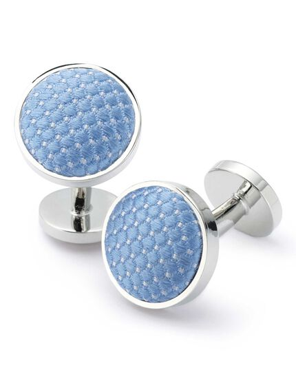 Sky diamond cuff links