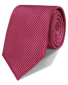 Red silk classic lattice tie