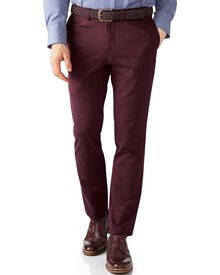 Wine extra slim fit flat front chinos