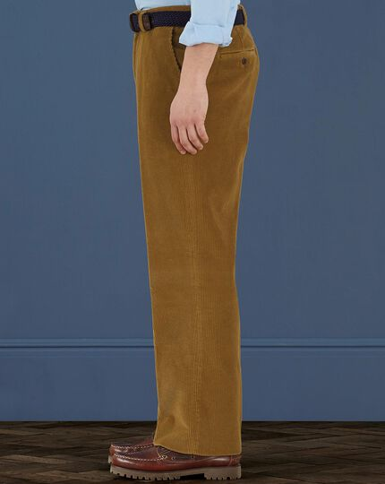 Corn cord classic fit trousers