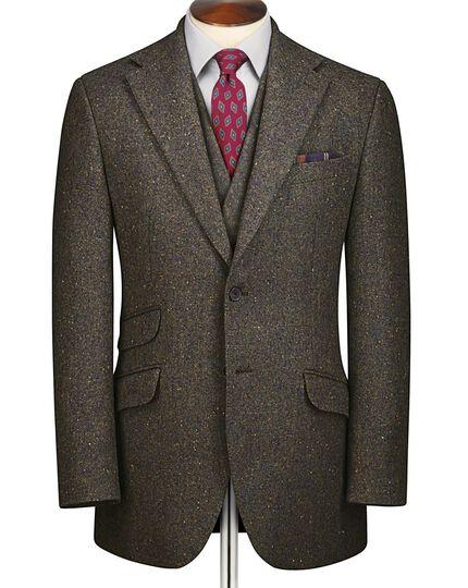 Green slim fit Donegal tweed jacket