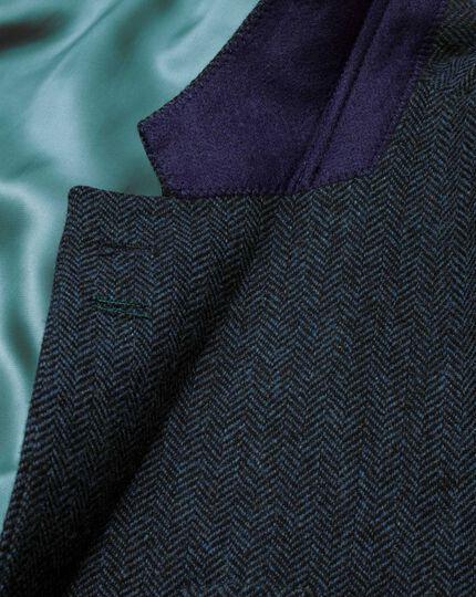 Slim fit blue tweed jacket