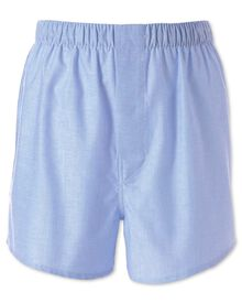 Plain sky blue chambray woven boxers