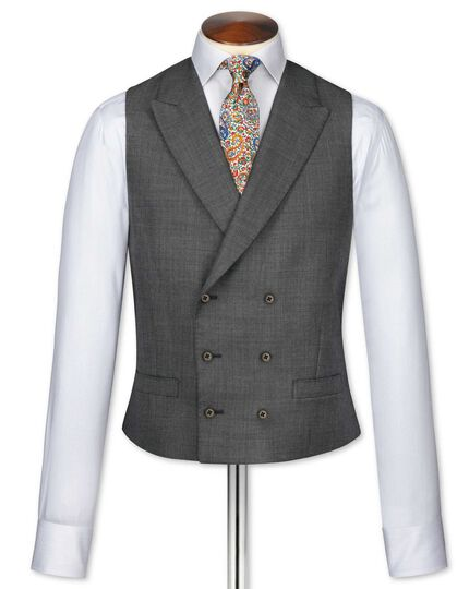 Dark grey adjustable fit morning suit vest
