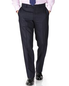 Indigo classic fit saxony business suit pants