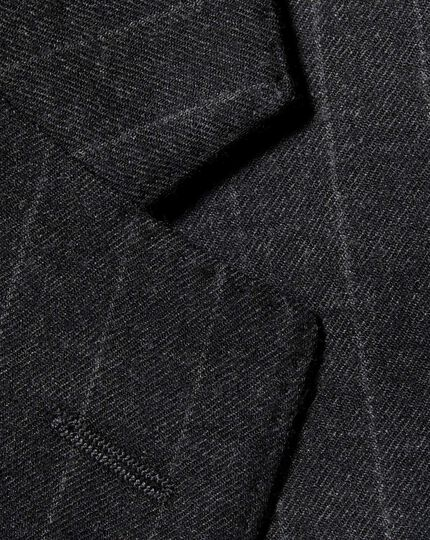 Charcoal slim fit saxony business suit jacket