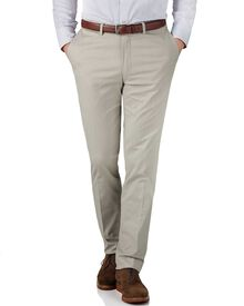 Stone slim fit stretch cavalry twill trousers