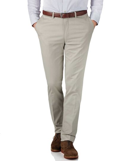Stone slim fit stretch cavalry twill pants
