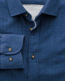 Classic fit blue double face shirt