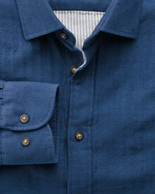 Extra slim fit blue double face shirt