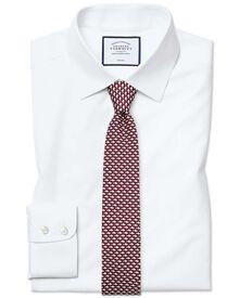 Bügelfreies Extra Slim Fit Popeline-Hemd in Weiß