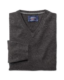 Charcoal Donegal v-neck sweater