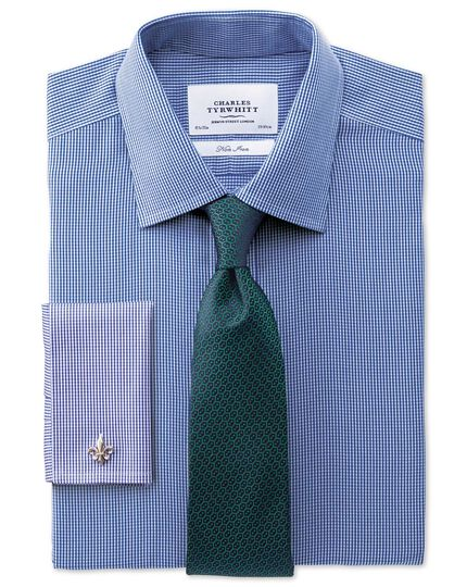 Forest green silk wire lattice classic tie