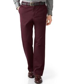 Wine classic fit flat front chinos