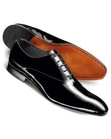 Black Garrick patent shoes