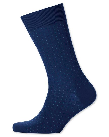 Socken in marineblau mit Mikro-Strich-Muster